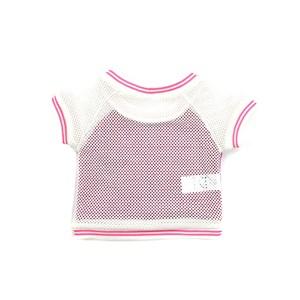 Blusa Feminina Infantil / Kids Em Alfaiataria Sarjada Com Crepe Chine - Um Mais Um Pink