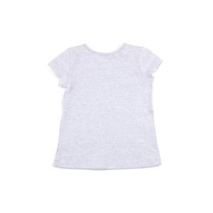 Blusa Feminina Infantil / Kids Em Cotton Liso - 1+1 Mescla Claro