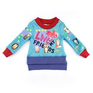Blusa Feminina Infantil / Kids Em Neoprene Leve - 1+1 Verde Agua