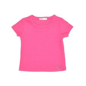 Blusa Infantil / Baby Em Malha Canelada Com Lycra - Um Mais Um Pink