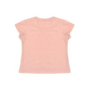 Blusa Infantil / Baby Em Malha Penteada Com Patch De Cachorrinho - Um Mais Um Rosa Claro