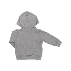 Blusa Infantil / Baby Em Moletinho De Viscose Com Lycra - Um Mais Um Mescla Claro