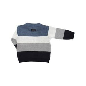 Blusa Infantil / Baby Em Tricot Com Patch De Cachorrinho - Um Mais Um Azul