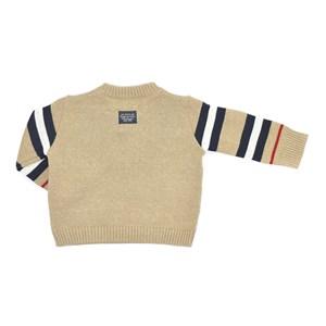 Blusa Infantil / Baby Em Tricot Com Patch De Cachorrinho - Um Mais Um Bege Claro