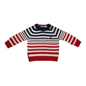 Blusa Infantil / Baby Em Tricot  Com Patch De Cachorrinho - Um Mais Um Mescla Claro
