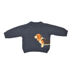 Blusa Infantil / Baby Em Tricot - Um Mais Um Marinho