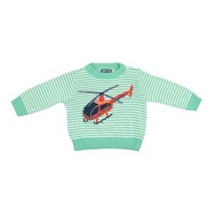 Blusa Infantil / Baby Em Tricot - Um Mais Um Verde
