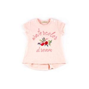 Blusa Infantil / Baby Feminina Em Malha De Poliéster Com Estampa Frontal - 1+1 Salmao