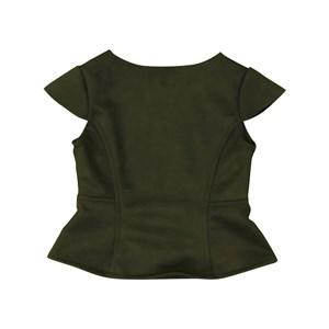 Blusa infantil feminina em neoprene com recortes VERDE