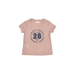 Blusa Infantil / Kids Em Malha Jersey Com Foil  Com Estampa Frontal - Um Mais Um Rose