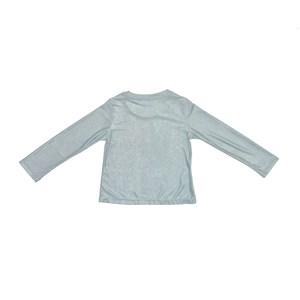 Blusa Infantil / Kids Em Malha Jersey Com Foil  Com Estampa Frontal - Um Mais Um Verde Agua