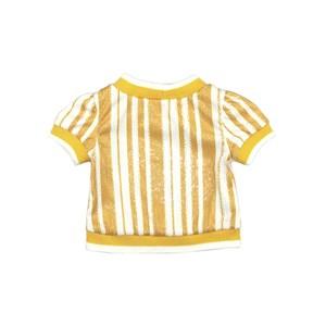 Blusa Infantil / Kids Em Malha Paetê Estampada - Um Mais Um Amarelo Canario