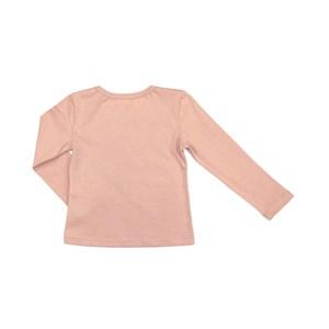 Blusa Infantil / Kids Em Meia Malha Penteada Patch De Cachorrinho  - Um Mais Um Rosa Claro