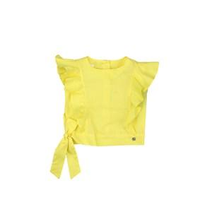 Blusa Infantil / Kids Em Tricoline Galles - Um Mais Um Amarelo Canario