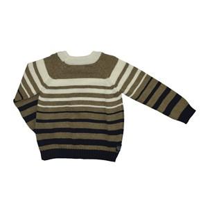Blusa Infantil / Kids Em Tricot Com Patch De Cachorrinho - Um Mais Um Bege Claro