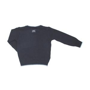 Blusa Infantil / Kids Em Tricot Com Patch De Cachorrinho - Um Mais Um Marinho