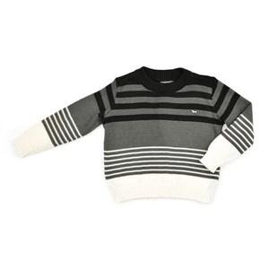 Blusa Infantil / Kids Em Tricot Com Patch De Cachorrinho - Um Mais Um Mescla Claro