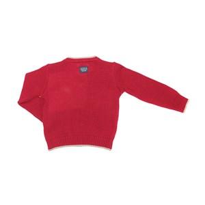 Blusa Infantil / Kids Em Tricot Com Patch De Cachorrinho - Um Mais Um Vermelho