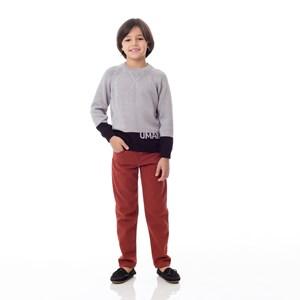 Blusa Infantil / Kids Em Tricot  - Um Mais Um Mescla Claro