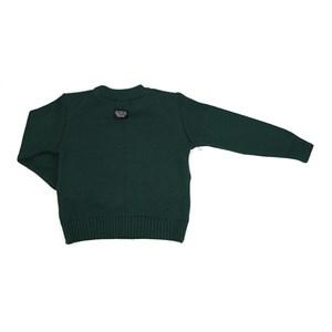 Blusa Infantil / Kids Em Tricot - Um Mais Um Verde