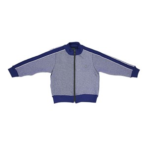 Blusa Infantil/Kids Masculino Em Canelado Dublado - Um Mais Um Azul Jeans