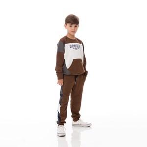 Blusa Infantil/Kids Masculino Em Moletom Com Lycra Sem Felpa - Um Mais Um Vinho
