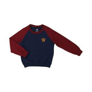 Blusa infantil masculina bolsos laterais duas cores com punhos VINHO