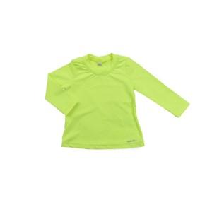 - Blusa Proteção Feminina Infantil / Kids Em Lycra Suplex De Poliamida - Um Mais Um Amarelo Fluor