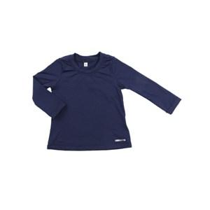 - Blusa Proteção Feminina Infantil / Kids Em Lycra Suplex De Poliamida - Um Mais Um Marinho