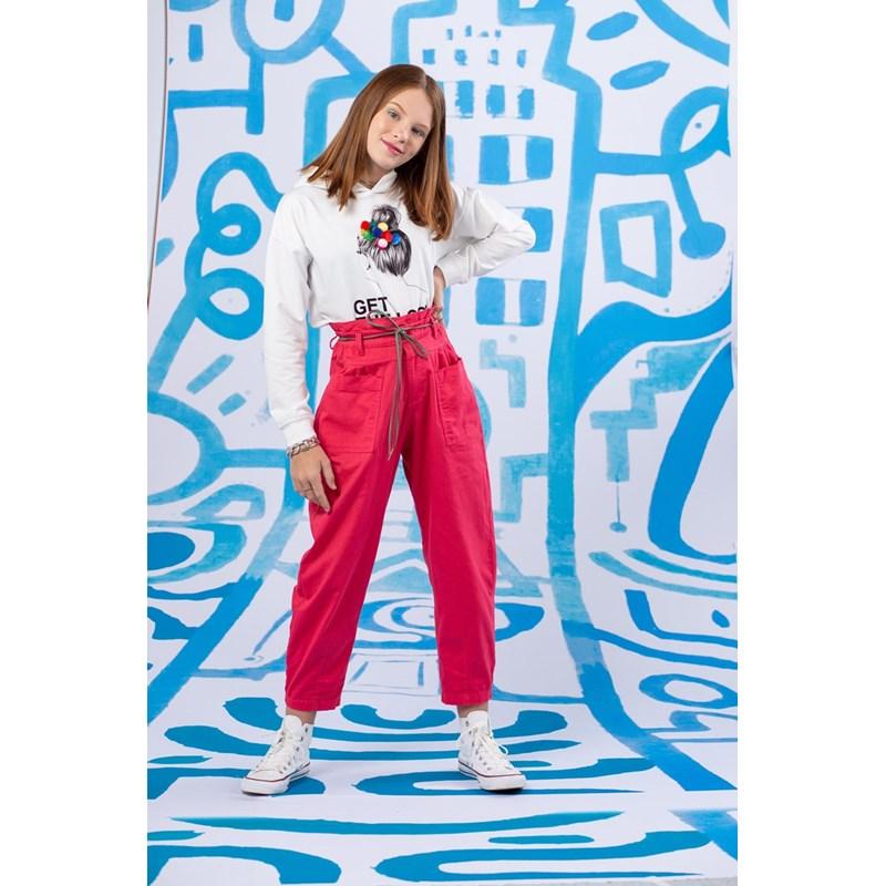 Blusa teen feminina manga longa com capuz CRU