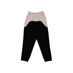 Blusao feminino teen manga curta duas cores com bolso frontal Preto