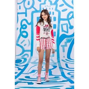 Blussa teen feminina manga longa duas cores com capuz PINK