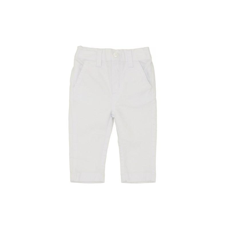 Calça Baby Eslástico Bolso Falso Branco