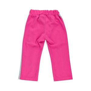 Calça De Moletom Infantil Feminina Em Moletinho Com Lycra E Malha Trilobal Flanelada - 1+1 Pink