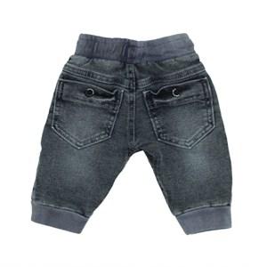 Calça Feminina Infantil / Baby Em Jeans Azul Maquinetado - Um Mais Um Única
