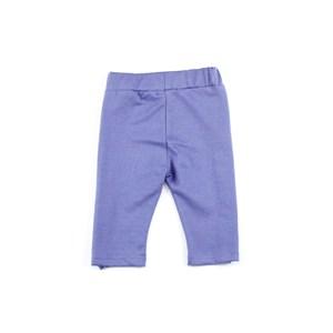 Calça Feminina Infantil / Baby Em Malha Sarjada Denin - 1+1 Azul Jeans