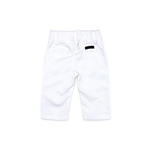 Calça Infantil / Baby Em Sarja Com Lycra - Um Mais Um Branco