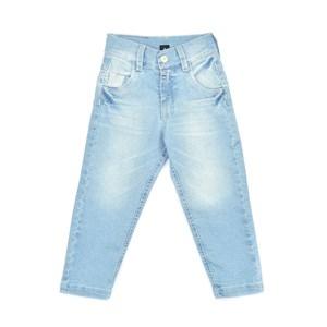 Calça Infantil / Kids Em Jeans Com Lycra - Um Mais Um Delave