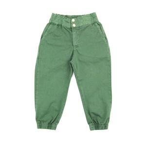 Calça Infantil / Kids Em Sarja Com Lycra - Um Mais Um Verde