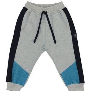 Calça Infantil/Kids Masculino Em Moletom Sem Felpa - Um Mais Um Azul
