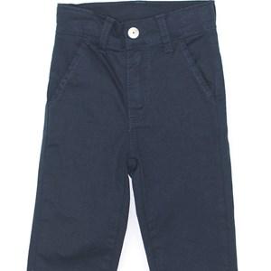 Calça Infantil/Kids Masculino Em Sarja Com Lycra - Um Mais Um Marinho