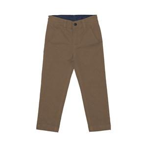 Calça infantil masculina em sarja CAQUI