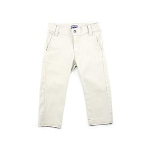 Calça Infantil Masculina Em Sarja Com Lycra - 1+1 Bege Claro