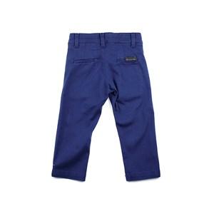Calça Infantil Masculina Em Sarja Com Lycra - 1+1 Marinho