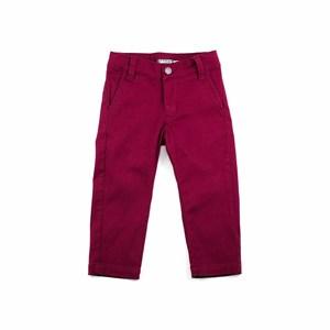 Calça Infantil Masculina Em Sarja Com Lycra - 1+1 Vinho