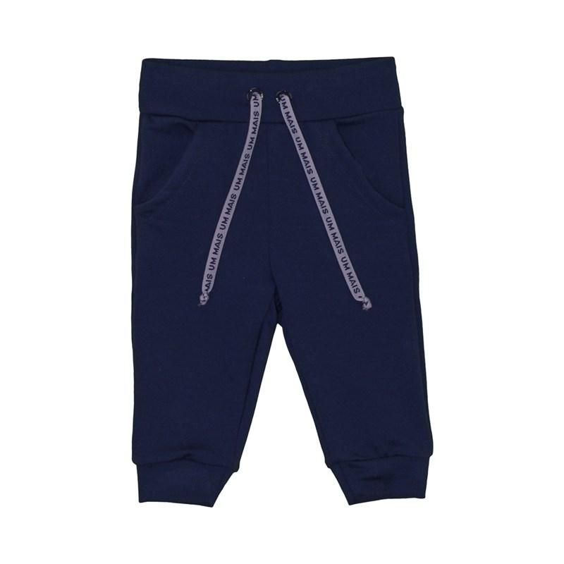 Calça masculina infantil / baby em moletinho viscose com lycra - um mais um Marinho