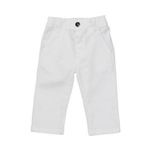 Calça Masculina Infantil / Baby Em Sarja Com Lycra - Um Mais Um Branco