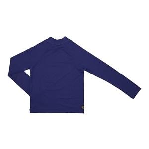 Camisa De Proteção Uv Infantil Masculina Lisa Marinho