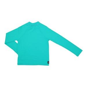 Camisa De Proteção Uv Infantil Masculina Lisa Verde