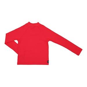 Camisa De Proteção Uv Infantil Masculina Lisa Vermelho